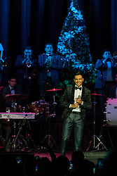 "ANAHEIM, CA - DEC 18: Singer Luis Coronel performs during his ""Noche Navideña"" concert at the City National Grove on December 18, 2015 in Anaheim, California. Byline, credit, TV usage, web usage or linkback must read SILVEXPHOTO.COM. Failure to byline correctly will incur double the agreed fee. Tel: +1 714 504 6870."