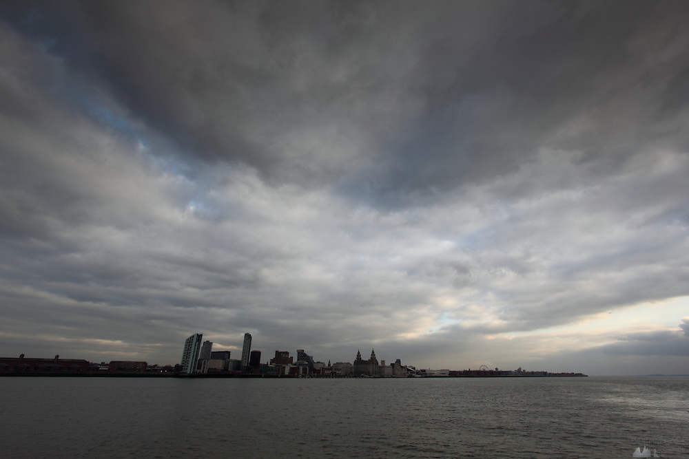 Views of Liverpool from the ferry across the Mersey