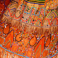 Africa, Tanzania, Karatu. Iraqw Beaded Wedding Dress