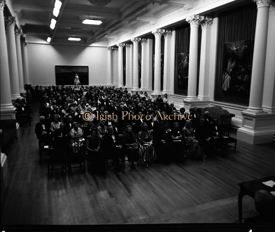 Opening Jack Yeats Exhibition at National Gallery.24/09/1971