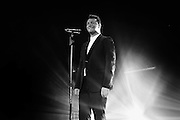 Singer Sam Smith performs live on stage at Hammersmith Apollo on November 6, 2014 in London, England.  (Photo by Simone Joyner)
