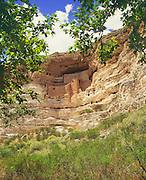 0110-1000 ~ Copyright: George H. H. Huey ~ Montezuma Castle, Sinagua culture cliff dwelling, occupied @ A.D. 1100-1400. Verde Valley. Montezuma Castle National Monument, Arizona.
