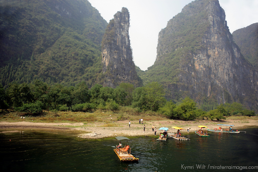 Asia, China, Guilin. Karst Formations and Scenery of Li River.