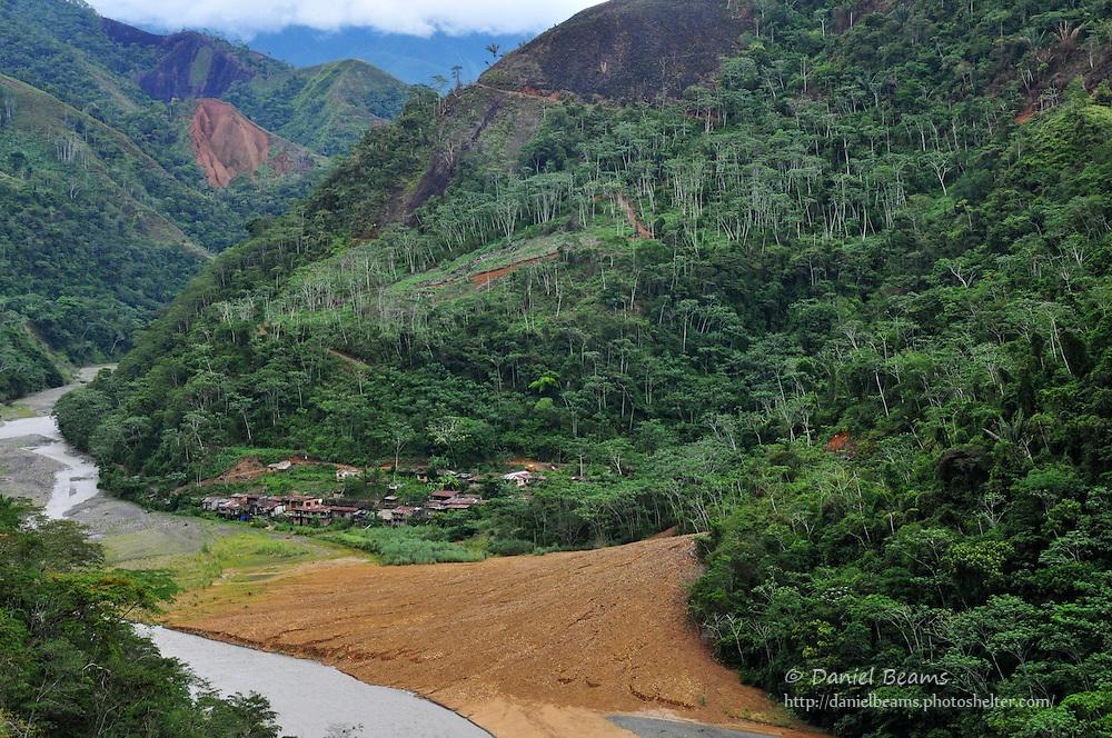 Gold mining community on the road between Consata and Mapiri, Bolivia