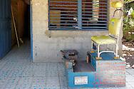 Shoe shine in Yara, Granma, Cuba.