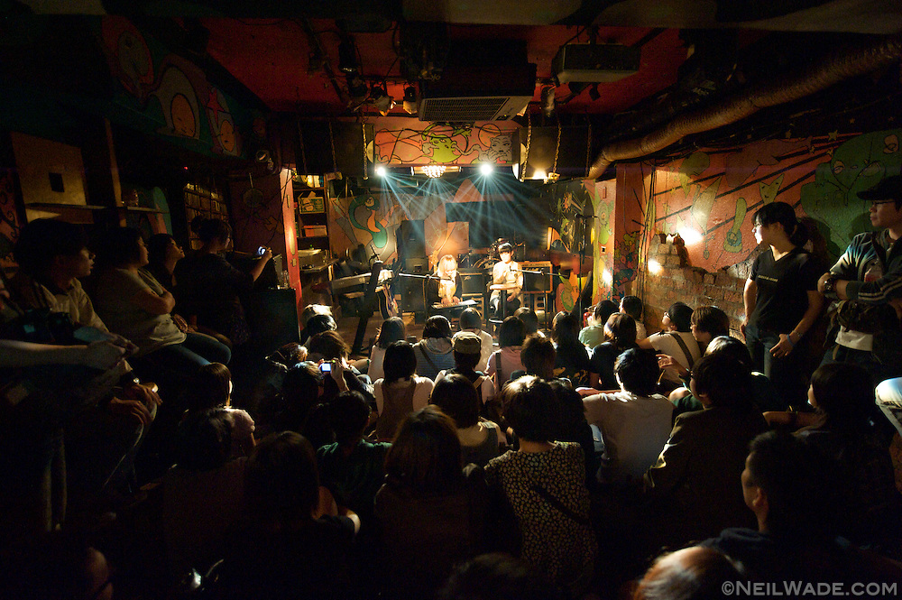"A intimate setting at the live music venue ""The Underworld"" in Taipei, Taiwan."