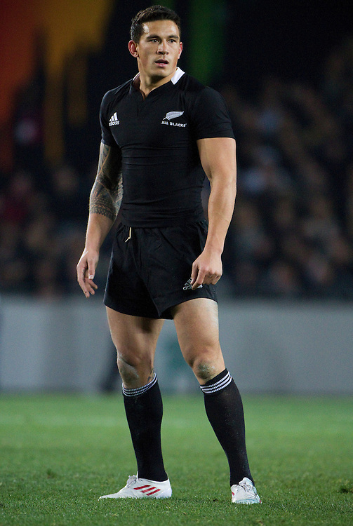 Sonny Bill Williams of the All Blacks at the Tri-Nations Bledisloe Cup match between the New Zealand All Blacks and Australian Wallabies at Eden Park, Auckland, New Zealand, Friday, August 6, 2011.  Credit: SNPA / Bethelle McFedries