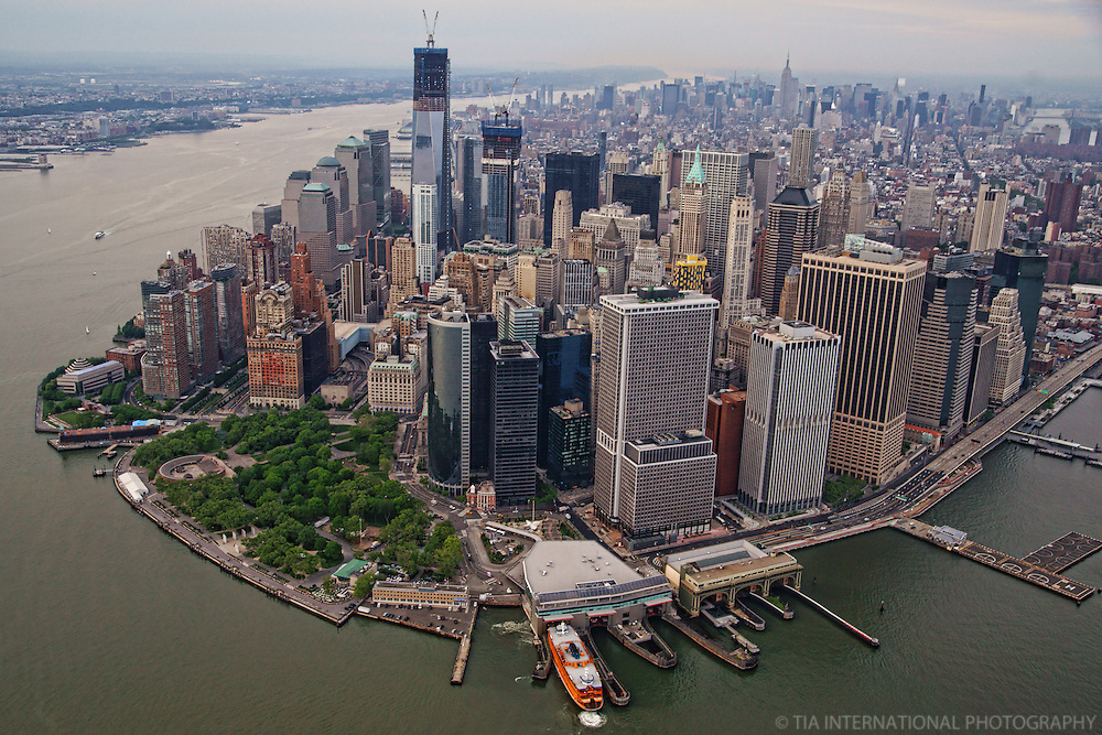 Lower Manhattan featuring Battery Park & Staten Island Ferry