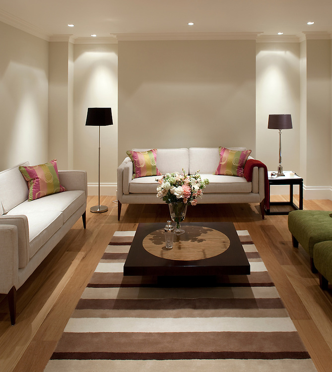 Showhouse lounge in an apartment in London