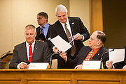 MADISON, WI – DECEMBER 19: Wisconsin Republican National Committeeman Steve King passes out ballots to the Wisconsin state electors at the Wisconsin State Capitol on Monday, December 19, 2016.