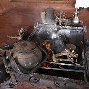 teapots on fire in a Bedouin tent in Wadi Rum Jordan, may 14, 2013. Photo by Oren Nahshon