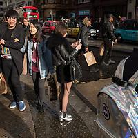 Londoners mix at Oxford circus, London.
