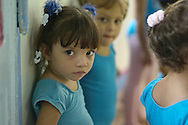 Young girls attending a pre-ballet class at ¨Los Cisnes¨Dance School in Cartagena.