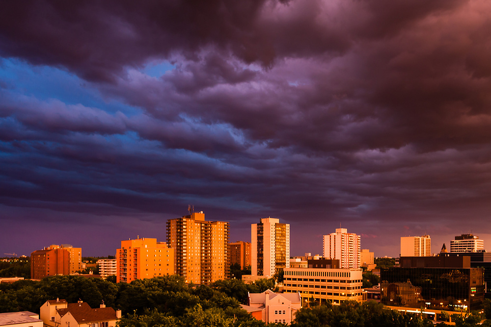 View from the Cloud, Saskatoon Gathering Storm