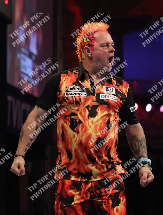 PDC WORLD MATCHPLAY 2014,PETER WRIGHT,<br /> PIC CHRIS SARGEANT,<br /> TIPTOPPICS