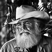 Clyde Butcher is often called the Ansel Adams of the Everglades. His large format black and white images of Florida and the Everglades have introduced many to the unique and sensitive ecology of Florida and he has received much acclaim and many awards  for his conservation efforst to help protect it. ..Photo by James Branaman