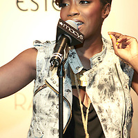 Estelle performing at Rachel Roy  Spring.2010 Collection at Macy's Herald Square on April 1, 2010 .