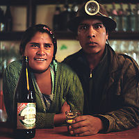 Miner and his woman in Potosi, Bolivia..Photos Amaya Roman