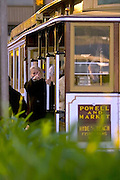 Image of Cable Car near the waterfront in San Francisco, California, model released
