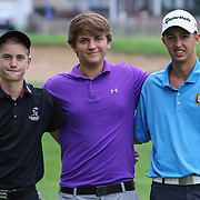 From Left: Austin Barbin, Reed Winkler and Ryan Rucinski poses for a photo after the boys 2015 Delaware junior championship at Chesapeake Bay Golf Club Thursday, July 03, 2015, in Rising Sun, Maryland.