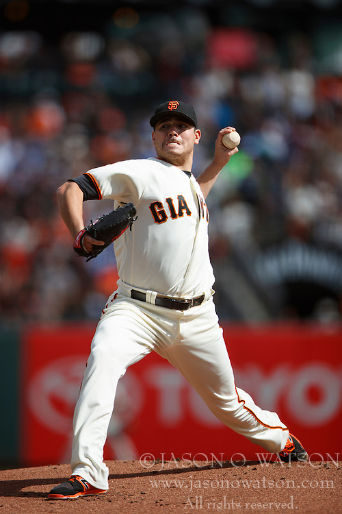 SAN FRANCISCO, CA - OCTOBER 02: Matt Moore #45 of the San Francisco Giants pitches against the Los Angeles Dodgers during the first inning at AT&T Park on October 2, 2016 in San Francisco, California. The San Francisco Giants defeated the Los Angeles Dodgers 7-1. (Photo by Jason O. Watson/Getty Images) *** Local Caption *** Matt Moore
