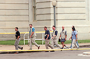 FBI investigators walk past the US Capitol after a shooting erupted on Capitol Hill July 24, 1998 in Washington, DC. Two US Capitol police officers were killed in the incident, one person wounded and the lone gunmen was wounded and taken into custody.