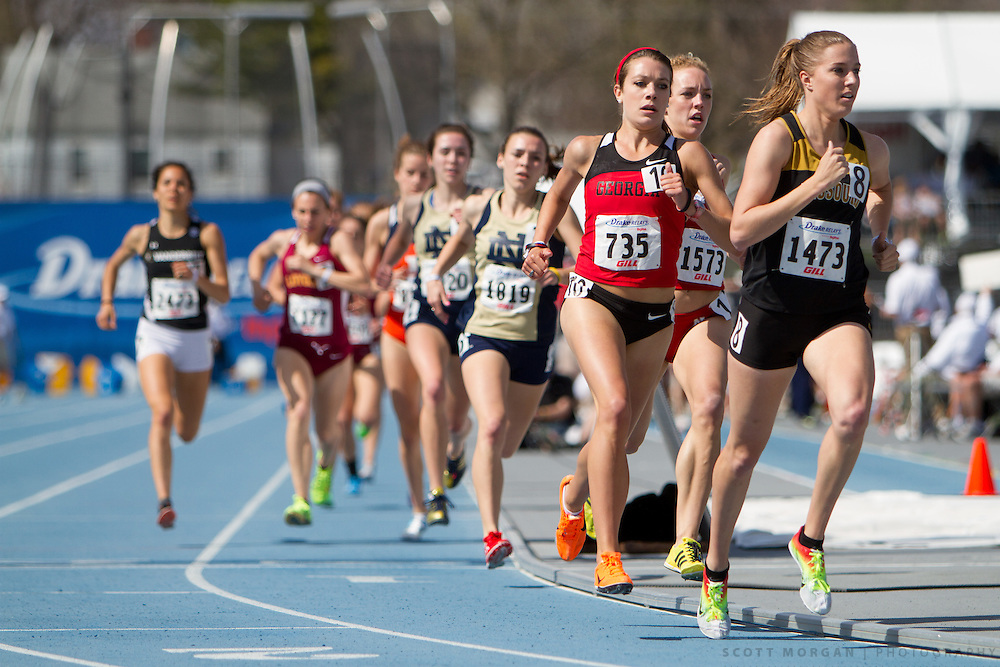 Georgia's Carly Hamilton runs in the 1500-meter run Saturday, April 27, 2013, during the Drake Relays in Des Moines..Photo by Scott Morgan 2013
