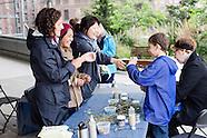 Kids Explore & Rail Yards in the Rain