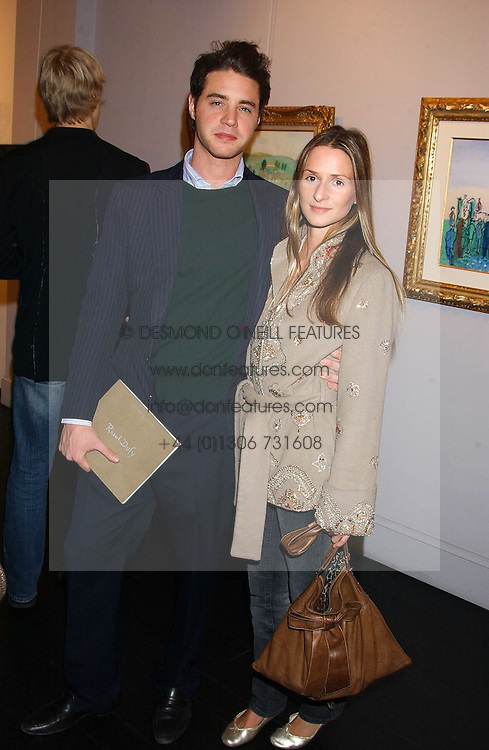 HARRY LANGTON and AMANDA CROSSLEY at the opening of an exhibition of paintings and watercolours by Raoul Dufy held at the Opera Gallery, 134 New Bond Street, London W1 on 6th February 2006.<br /><br />NON EXCLUSIVE - WORLD RIGHTS