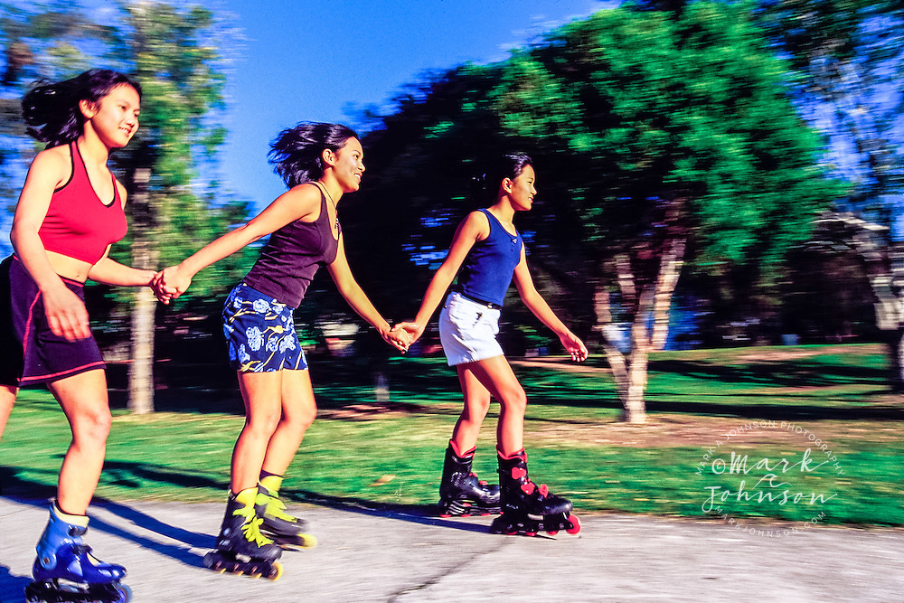 Three female Inline Skaters