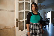Tunisian Jewish teenager Eleonor Hadid,16, at her  family's home  in the Hara Kebira neighborhood  in  Djerba on May 25,2016. Five years after Tunisia's revolution, and a year after three deadly ISIS attacks, the 1,100 Jews in this tiny island community of Djerba say they do not feel threatened living in Tunisia.(Photo by Heidi Levine).