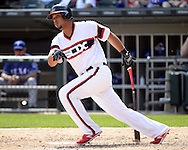 CHICAGO - APRIL 24:  Jose Abreu #79 of the Chicago White Sox bats against the Texas Rangers on April 24, 2016 at U.S. Cellular Field in Chicago, Illinois.  The White Sox defeated the Rangers 4-1.  (Photo by Ron Vesely)   Subject: Jose Abreu