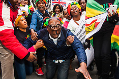 2015-02-21 UK Zimbabweans mark Mugabe's 91st birthday with embassy protest