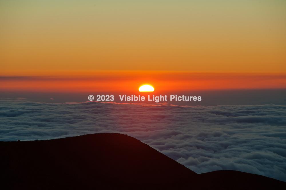 Sunset at Hawaii's Mauna Kea Mountain