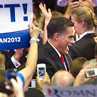 MITT ROMNEY  wades through the audience during day four of the RNC at the Tampa Bay Times Forum in Tampa Thurs. Aug. 31, 2012.