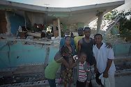 Port-Au-Prince, Haiti, January 16 of 2010:  Victims of the 2010 Haitian earthquake struggle to survive in Port-au-Prince. More than 316.000 people were killed in this disaster. Photo: Caio Guatelli.