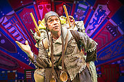 Lovingly ripped off from the classic film comedy Monty Python and the Holy Grail, Spamalot is making a triumphant return to the London West End, at the Harold Pinter Theatre. Featuring Jon Culshaw as King Arthur, Marcus Brigstock as Sir Lancelot, Bonnie Langford as The Lady of the Lake and Todd Carty as Patsy. Picture shows Todd Carty.
