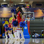 87ers cheerleading squad perform during a time out in the course of a NBA D-league regular season basketball game between Delaware 87ers and Idaho Stampede Thursday, Dec. 12, 2013 at The Bob Carpenter Sports Convocation Center, Newark, DE