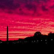 Sunset over the National Mall, Washington, DC