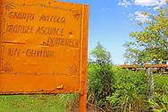 Poultry farm sign in Playa Baracoa, Artemisa, Cuba.
