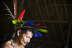 A Bar&aacute; Indigenous man living at S&atilde;o Gabriel da Cachoeira, uses the Baniwa Maloca (House of Knowledge) to express his own traditions and share with the community. With a peculiar humor, he was listed as 'dangerous indigenous man' by the Baniwa's leader because he exhibits a mustache (not usual for the indigenous in the area).<br /> Bar&aacute; People are very rare, an estimative about their group in Brazil tells about only 39 people (by 2009). His original tribe is near the frontier with Col&ocirc;mbia, around Papuri river.