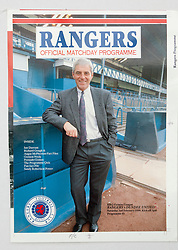 Walter Smith on the programme cover. Pictures and pages from the time at Rangers News 1989 to 1993..©Michael Schofield.