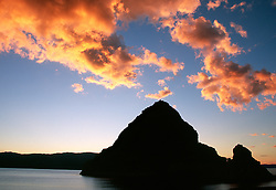 &quot;Sunset at Pyramid Lake, Nevada 2&quot;- This sunset was photographed at Pyramid Rock, on the East shore of Pyramid Lake, Nevada.<br />