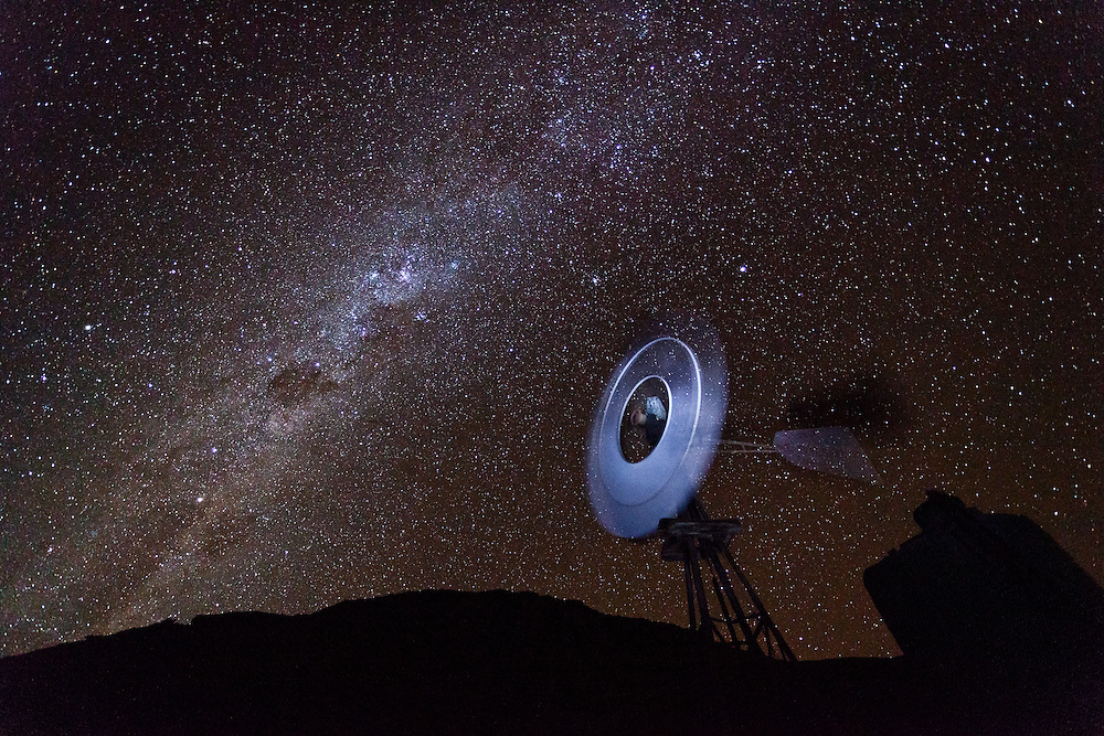 africa sutherland night photography windmill stars night sky southern ...
