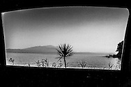 September 2015. Haikidiki. Landscape snapshots through the car's window during our travel to Mount Athos.