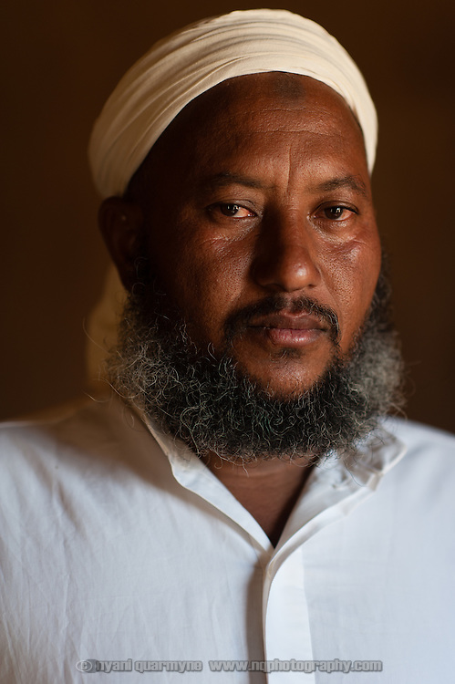 Hamady Ould cheikh, Imam of a mosque in the village of Mbera, Mauritania on 8 March 2013. Though the mosque is located in the 'village' - the original site of a refugee camp for Malians fleeing conflict in Mali in the early 1990s - it now also serves the current Mbera refugee camp, which is home to approximately 70 000 refugees fleeing the current conflict.