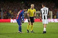 19.04.2017 - Barcellona  -  Quarti di finale  Champions League, Barcellona-Juventus , Nella foto:  Lionel Messi e Paulo Dybala