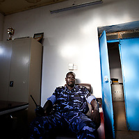 Abyei's deputy chief of police, charged with defending the town against attack.