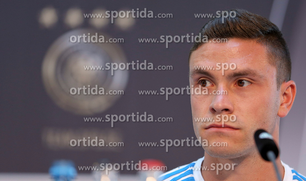 08.06.2015, Mercedes Benz Zenter, Koeln, GER, Nationalmannschaft, Pressekonferenz, im Bild Jonas Hector (1. FC Koeln) // during a press conference of the german national football team at the Mercedes Benz Zenter in Koeln, Germany on 2015/06/08. EXPA Pictures &copy; 2015, PhotoCredit: EXPA/ Eibner-Pressefoto/ Sch&uuml;ler<br /> <br /> *****ATTENTION - OUT of GER*****