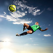 The UVU Women's Soccer team poses for promotional portraits at Clyde Field on the Utah Valley University campus in Orem, Utah Friday July 29, 2016. (Jay Drowns/UVU Marketing)